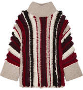 ELEVEN SIX - Uma Fringed Alpaca-blend Turtleneck Sweater - Red