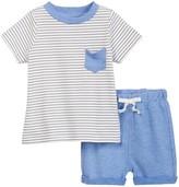 Isaac Mizrahi Striped Short Sleeve Tee & Short Set (Baby Boys 0-9M)