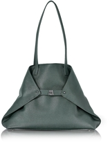 Akris Bottle Green Cervocalf Ai Medium Shoulder Bag