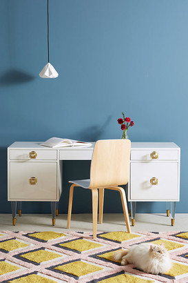 Lacquered Regency Desk By Tracey Boyd in White Size M