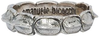 Emanuele Bicocchi Silver Croc Ring