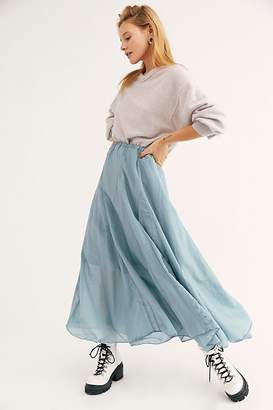 Cp Shades Lily Cotton Silk Maxi Skirt by at Free People