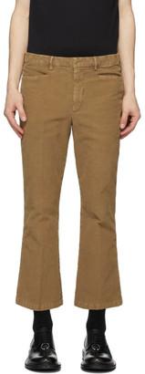 Neil Barrett Tan Flared Trousers