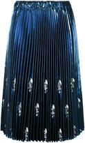 No.21 embellished pleated skirt