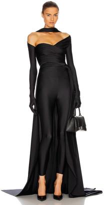 Balenciaga Choker Evening Set Train Top in Black | FWRD