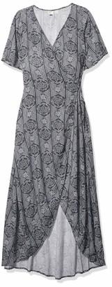 Roxy Women's Keep The Tempo Full Length Wrap Dress