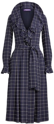 Ralph Lauren London Deco Ruffle Silk Shirtdress