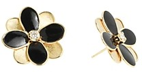 Marco Bicego 18K Yellow Gold Petali Diamond & Enamel Flower Stud Earrings