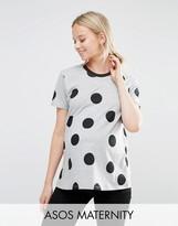 Asos Top in Polka Dot with Contrast Binding