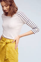 Stateside Striped Sleeves Terry Top