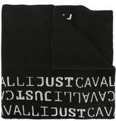 Just Cavalli logo woven scarf
