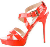 Jimmy Choo Patent Leather Vamp Sandals