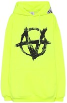 Vetements Anarchy cotton-blend hoodie