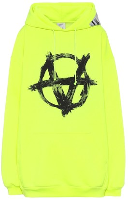 Vetements Anarchy cotton-blend hoodie
