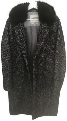 Essentiel Antwerp Grey Wool Coat for Women