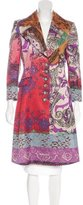 Etro Wool-Blend Abstract Print Coat w/ Tags