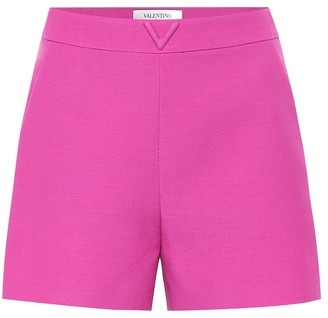 Valentino Wool and silk cady shorts