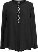 Marina Rinaldi Persona By Persona by Fair Sheer Blouse, Black
