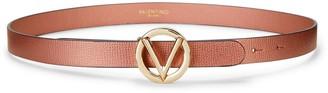 Mario Valentino Baby Palmellato Leather Logo Belt