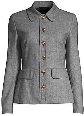 Escada Women's Belanya Tweed Peplum Jacket