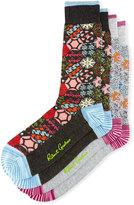 Robert Graham Two-Pair Graphic Floral-Print Sock Set