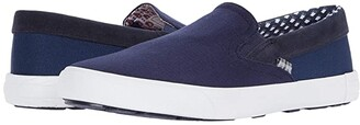 Ben Sherman Pete Slip-On (Navy Cotton) Men's Slip on Shoes