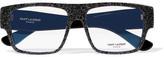 Saint Laurent Square-frame Glittered Acetate Optical Glasses - Black