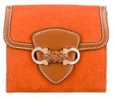 Salvatore Ferragamo Suede & Leather Wallet