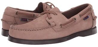 Sebago Dockside Portland Nubuck (Almond/Dark Brown) Men's Shoes