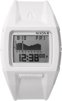 Nixon Men's Lodown All White Silicone Digital Watch