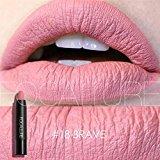 Matte Pencil lipstick, BOYON FOCALLURE Waterproof Makeup Lip Gloss Color Crayon Long Lasting