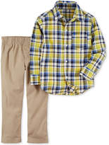 Carter's 2-Pc. Plaid Shirt & Pants Set, Baby Boys