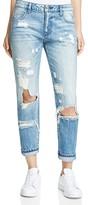 HIDDEN Classic Destroyed Boyfriend Jeans in Medium Blue