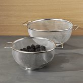 Crate & Barrel Set of 2 Mesh Colanders