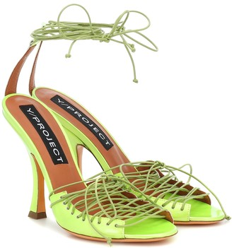 Y/Project Lace-up leather sandals