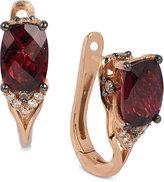 LeVian Le Vian® Raspberry Rhodolite® Garnet (1-7/8 ct. t.w.) and Diamond (1/10 ct. t.w.) Earrings in 14k Rose Gold