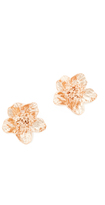 Oscar de la Renta Bold Flower Button Clip On Earrings