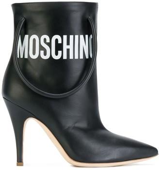 Moschino Handbag Strap Ankle Boots