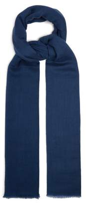 Denis Colomb Summer Kasumi Cashmere Scarf - Womens - Navy