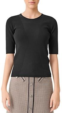 Maje Musa Short-Sleeve Sweater