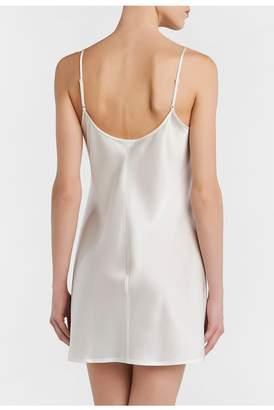 La Perla Silk White Silk Short Slip