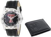 "Game Time Men's COL-WWS-TXT ""Watch & Wallet"" Watch - Texas Tech"