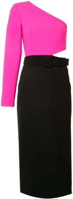 Rebecca Vallance One Sleeve Midi Dress