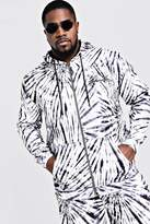 Big & Tall MAN Embroidered Hoodie In Tie Dye