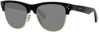 Celine Round Acetate & Metal Sunglasses