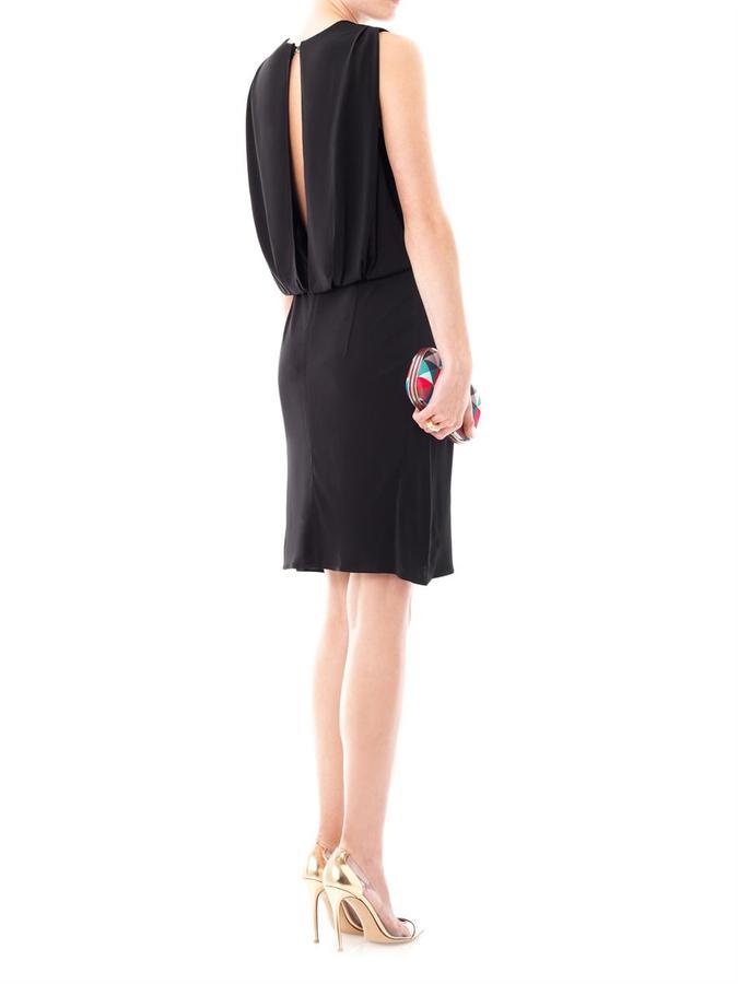 L'Agence Drape-back dress