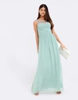 Little Mistress Embellished Neck Maxi Dress