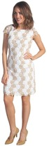 Lilly Pulitzer Barbara Dress (Gold Metallic Two Tone Truly Petal Lace) - Apparel