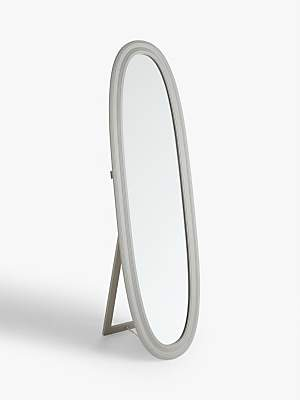 Croft Collection Freestanding Oval Cheval Mirror, 170 x 50cm, Grey