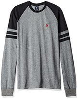 U.S. Polo Assn. Men's Long Raglan Sleeve Color Block Knit Shirt